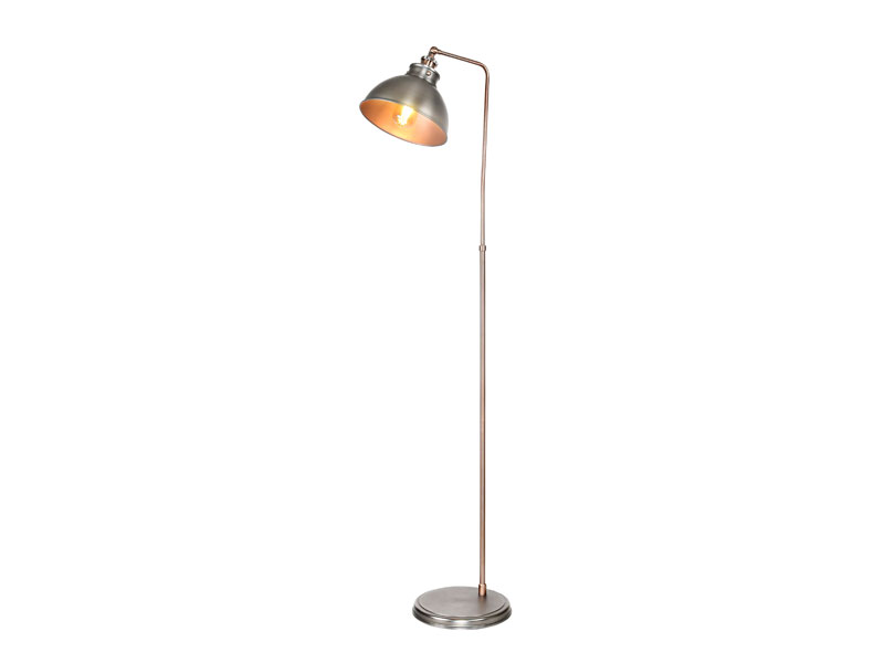 Industrial Floor Lamp Adjustable Rustic Floor Task Lamp in dark silver Finish, Standing Lamp with Metal Shade AF-3003-01
