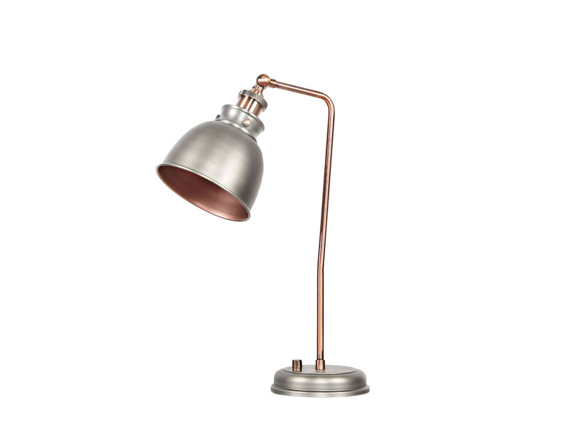 Industrial sytle Table Lamp Post silver & Iron Lamp Body AT-3003